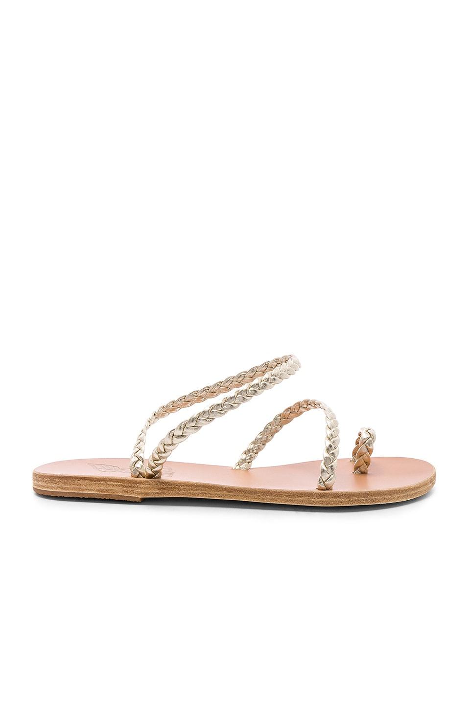 Ancient Greek Sandals Eleftheria Sandal in Platinum
