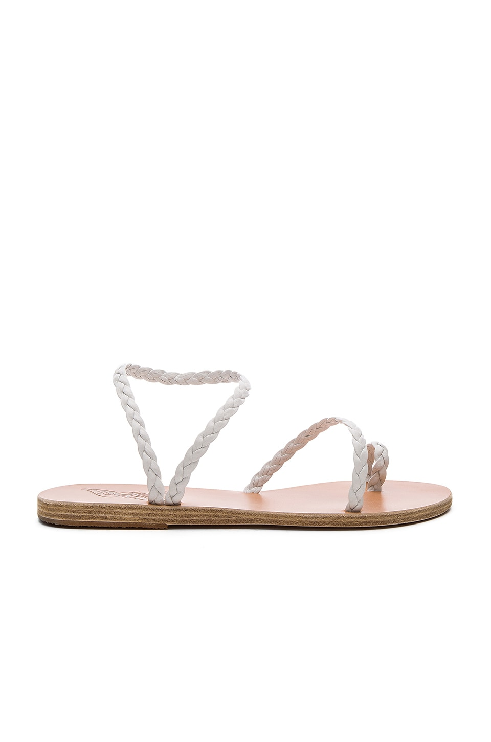 Ancient Greek Sandals Eleftheria Sandal in White & White