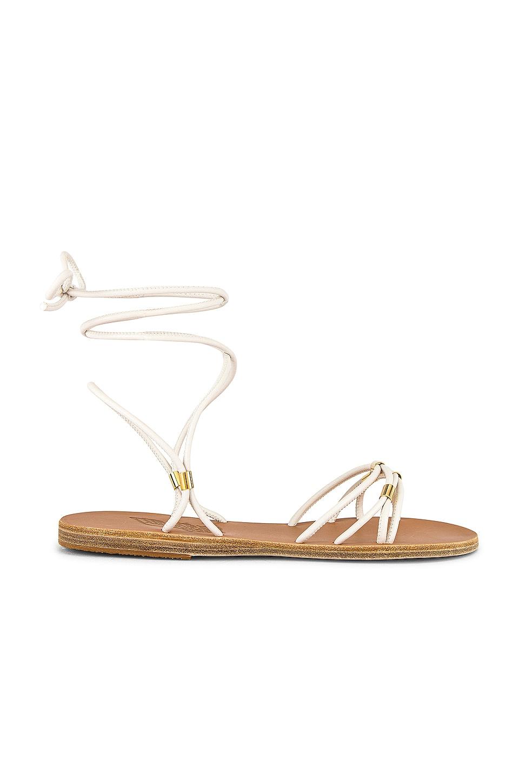 Ancient Greek Sandals Persida Sandal in Ice & Platinum Tubes