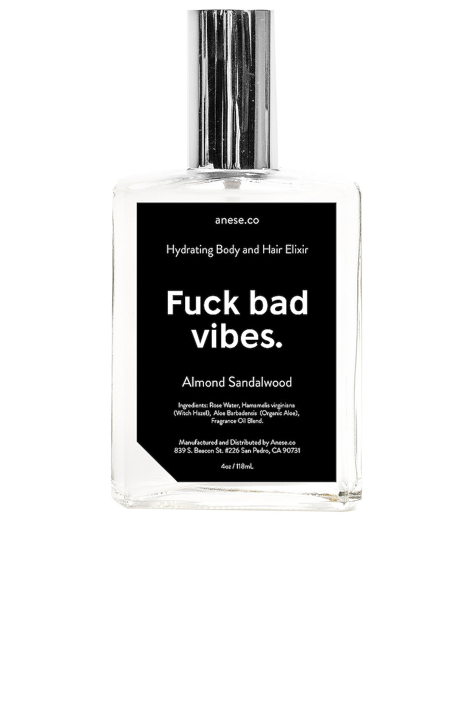 anese Fuck Bad Vibes Hydrating Elixir in Almond Sandalwood