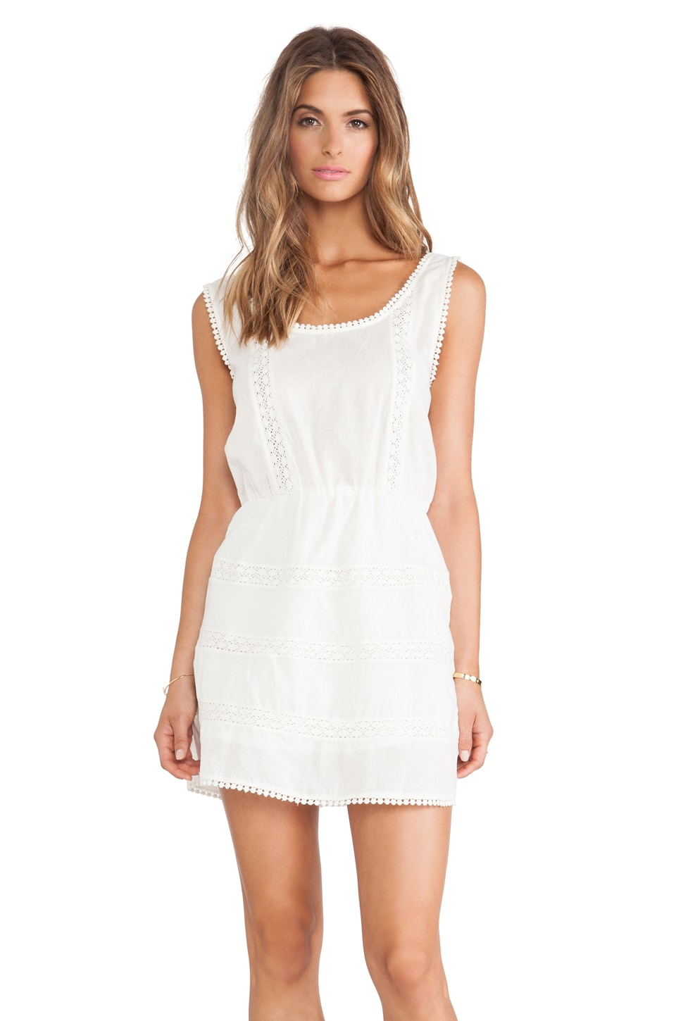 ANINE BING Sleeveless Bohemian Dress in Ivory
