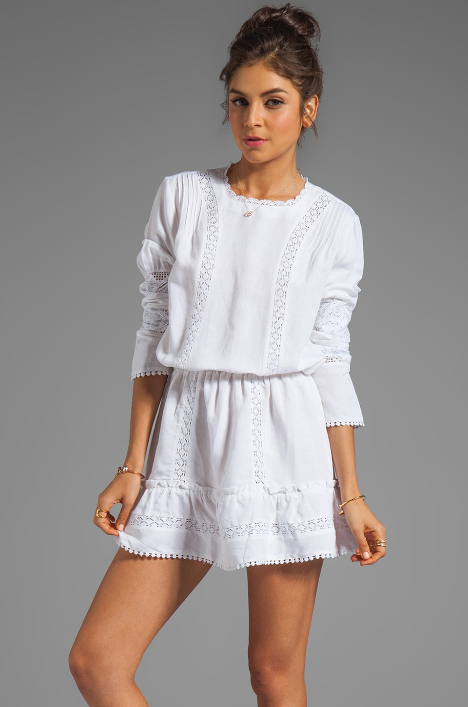 ANINE BING Bohemian Dress in White