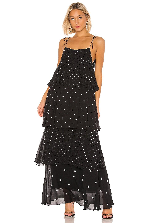 ANINE BING Daisy Maxi Dress in Black & White
