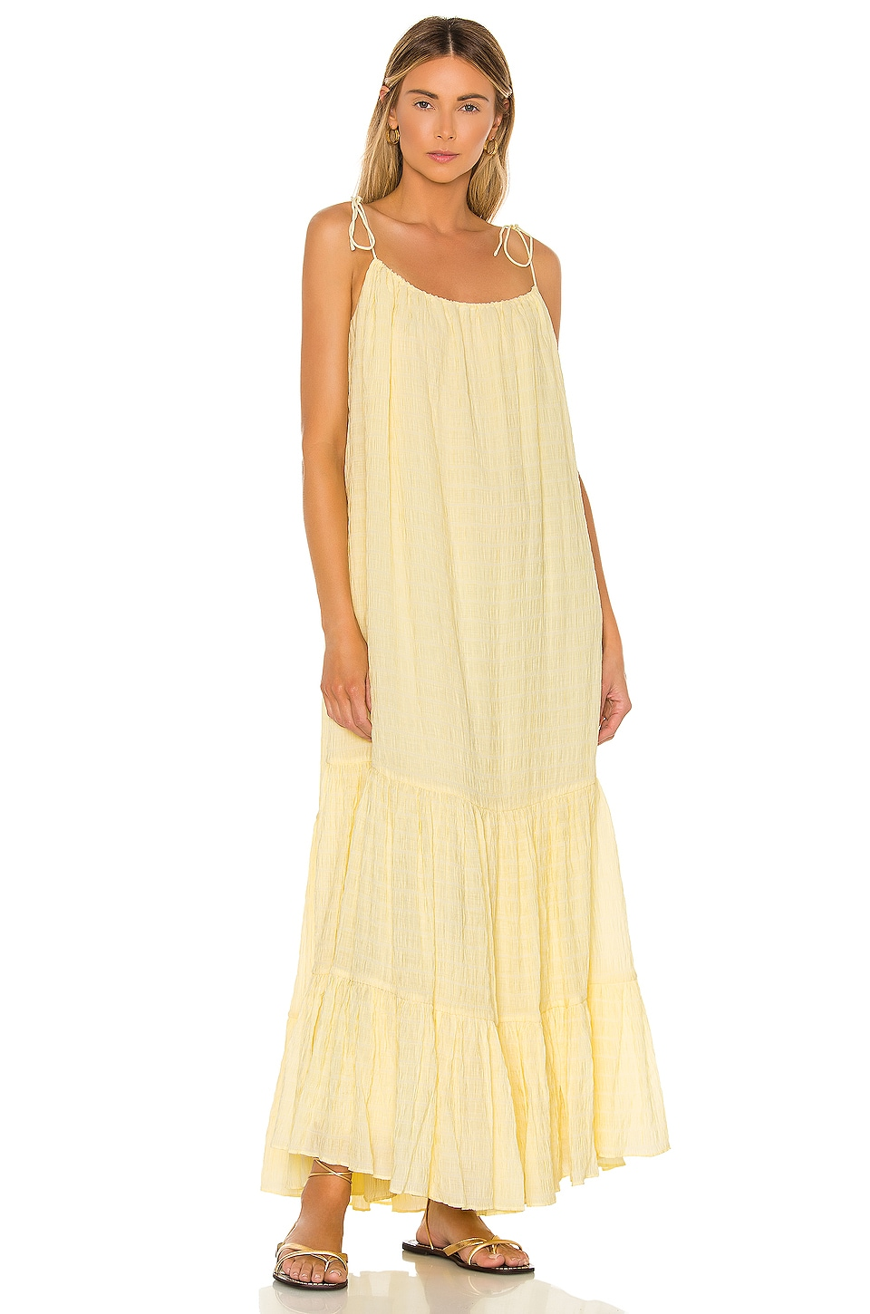 ANINE BING Scarlett Dress in Yellow