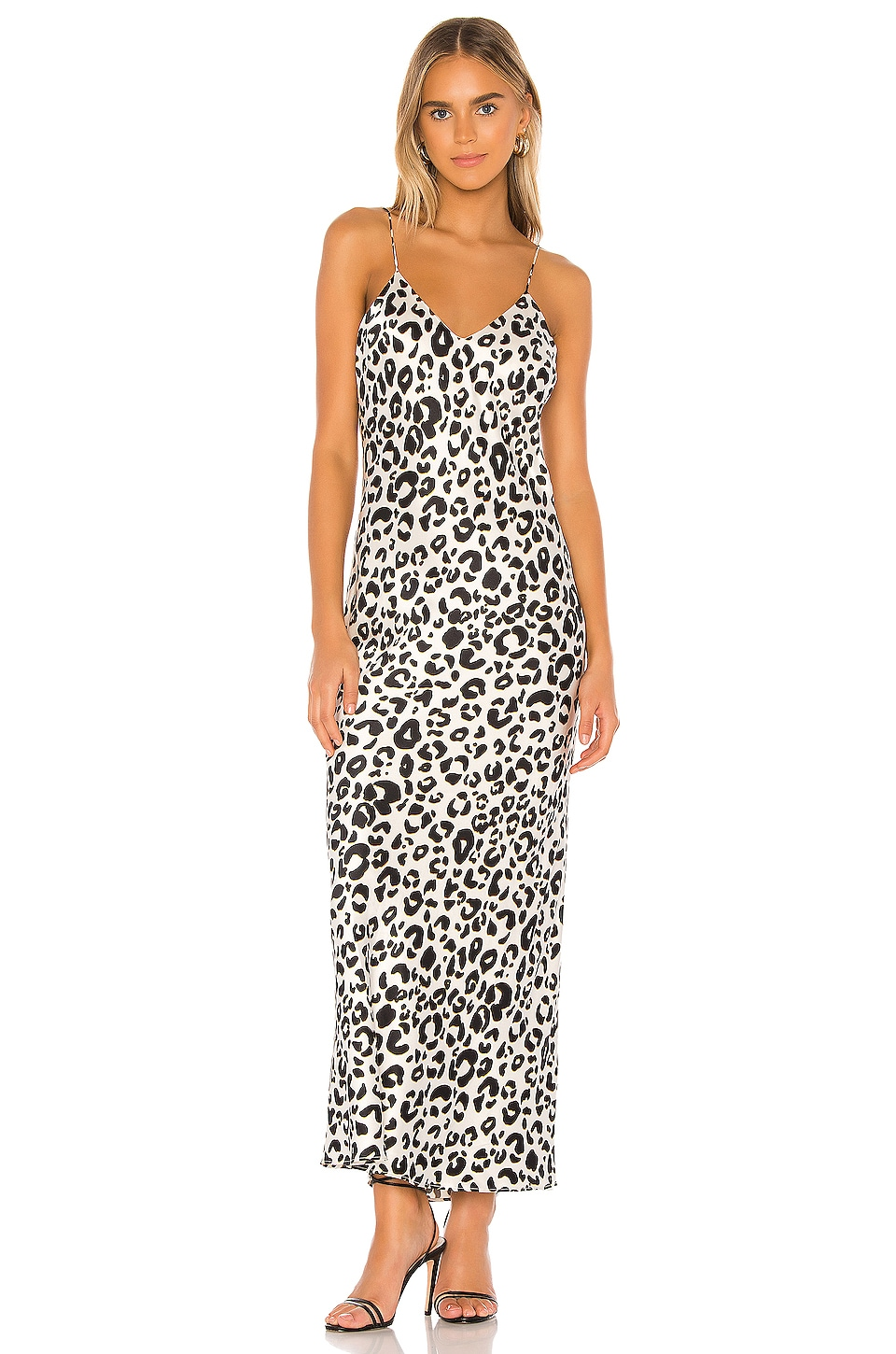 ANINE BING Rosemary Slip Dress in Leopard