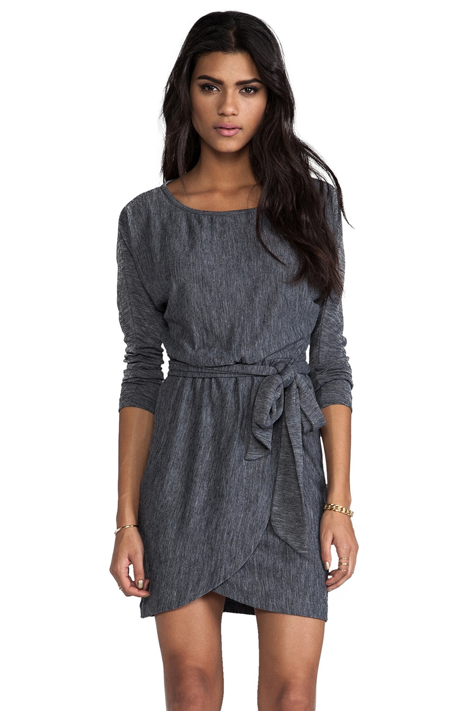ANINE BING Wrap Dress in Grey