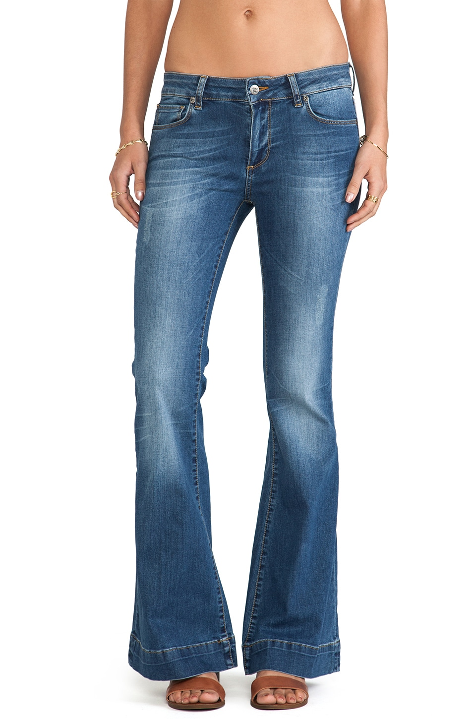 ANINE BING Flare Jean in Vintage Wash