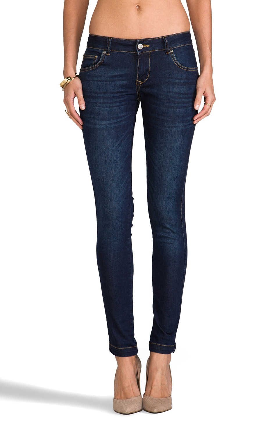 ANINE BING Classic Skinny Jean in Used Blue