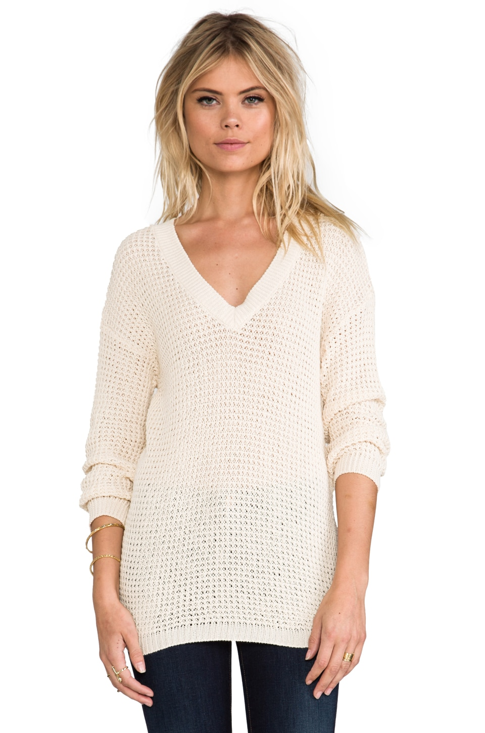 ANINE BING Knit Sweater in Beige