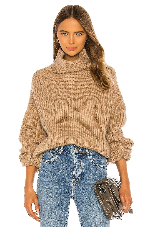 Anine Bing Sydney Sweater In Camel Revolve