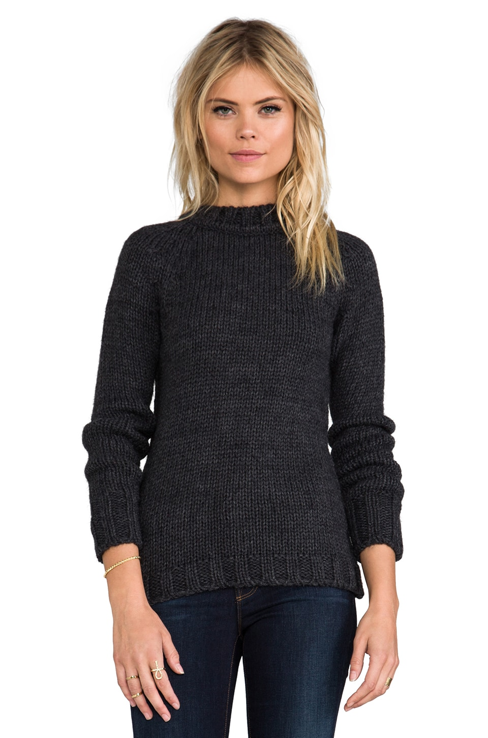 ANINE BING Wool Sweater in Charcoal