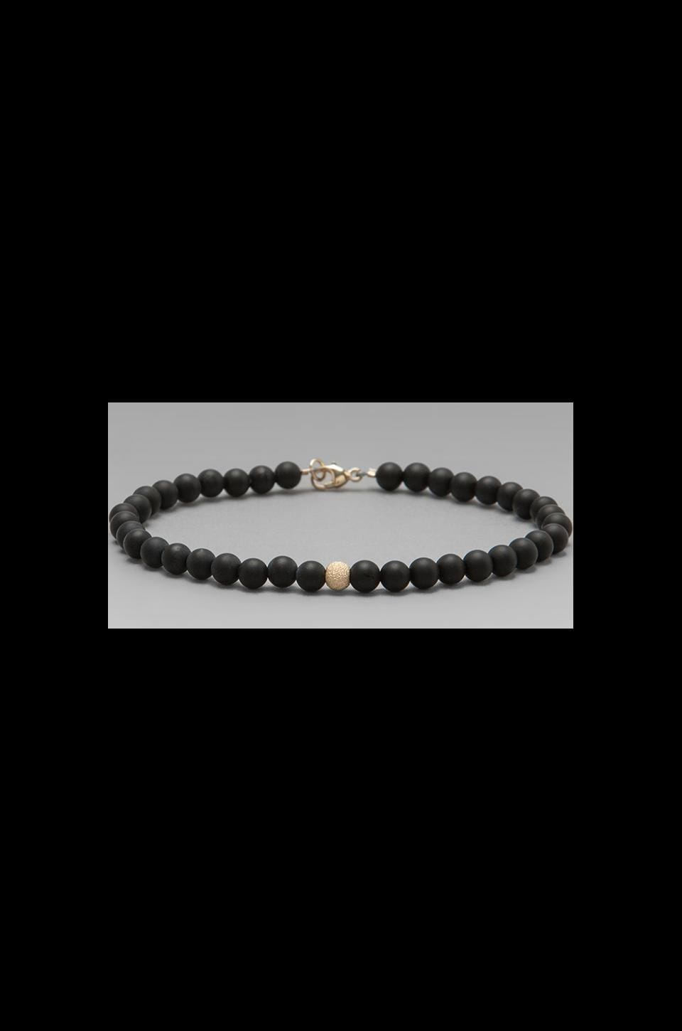 ANINE BING 14K Gold Beaded Bracelet in Black