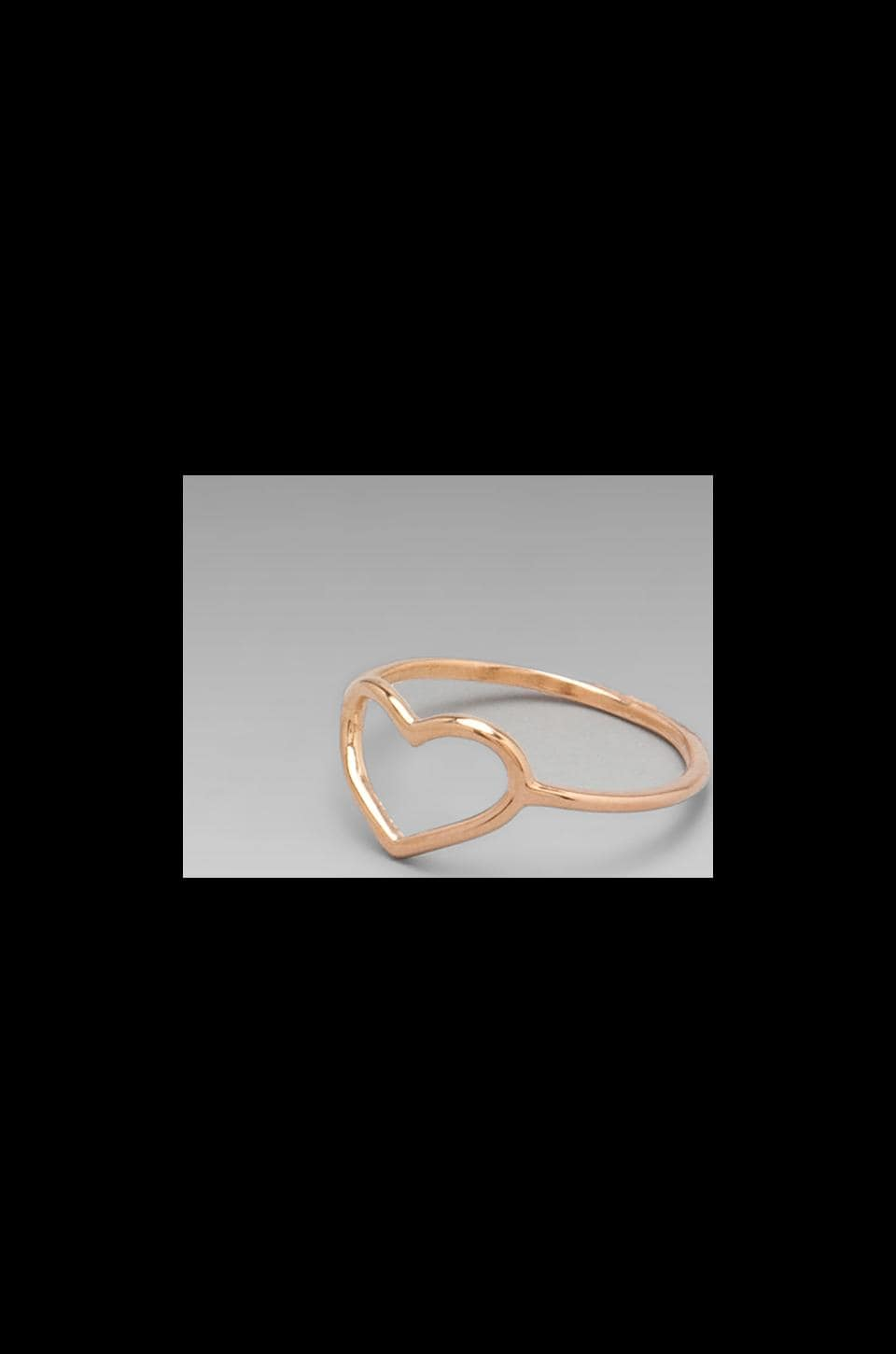 ANINE BING Heart Ring in Rose Gold