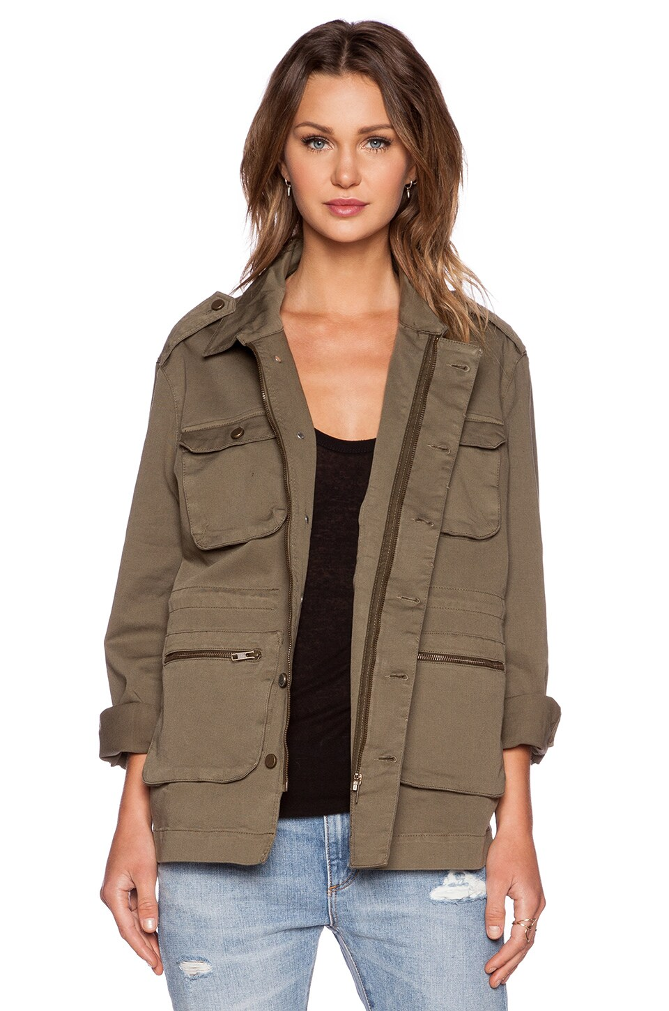 ANINE BING Oversized Army Jacket in Olive
