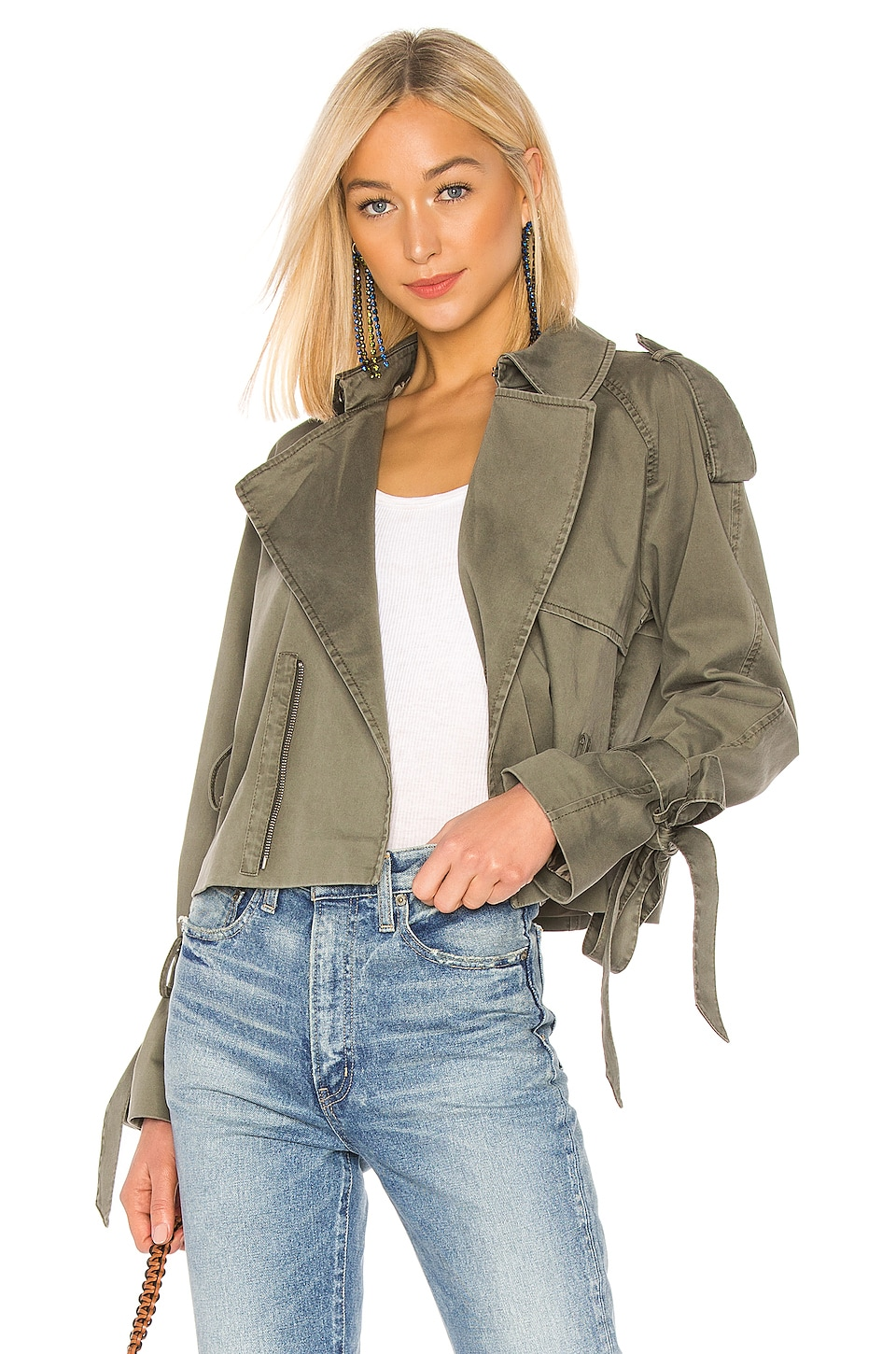 Anine Bing Jackets ANINE BING ARIA JACKET IN OLIVE.