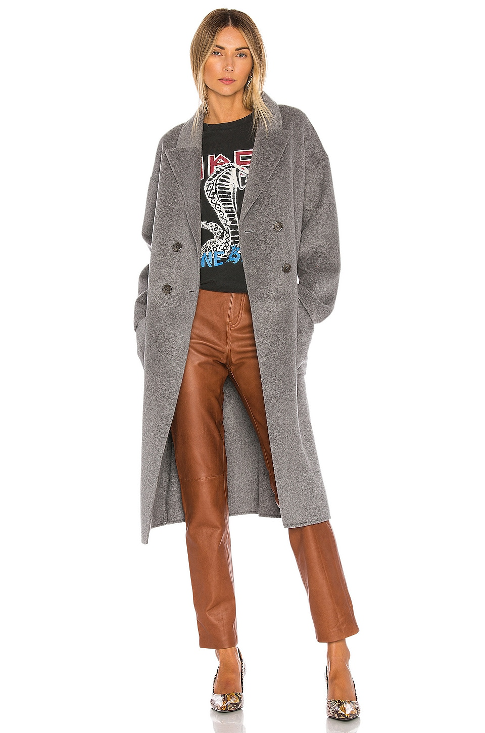 ANINE BING Dylan Coat in Grey