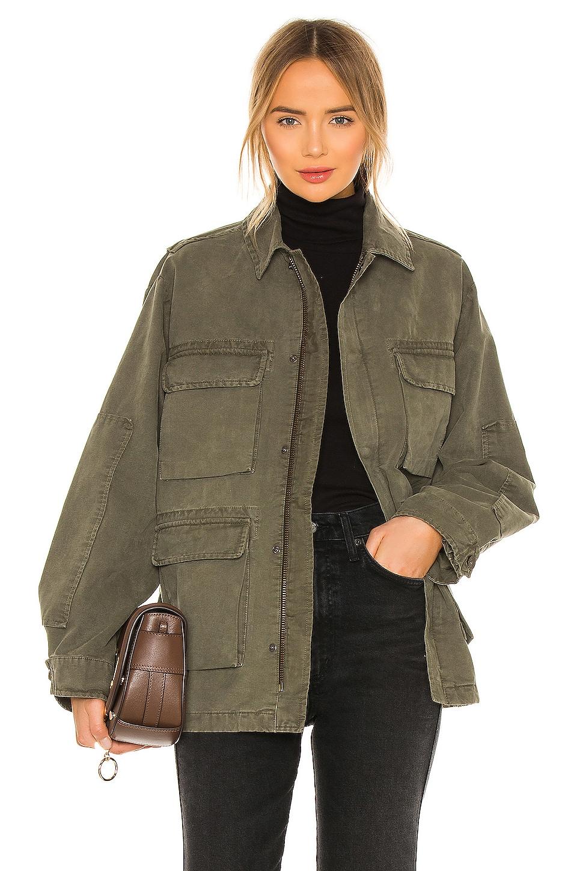 Anine Bing Joey Jacket In Green Revolve