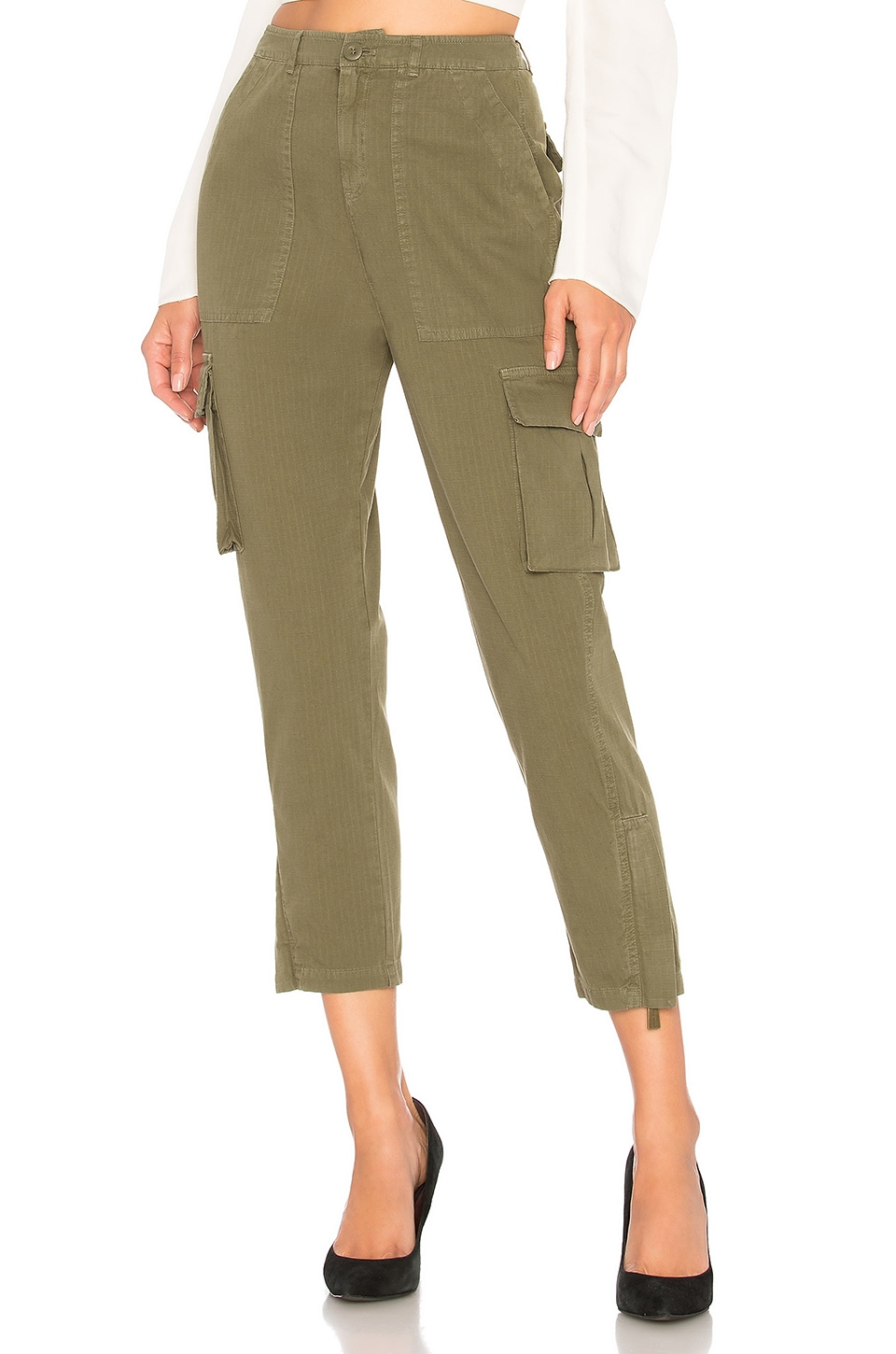 ANINE BING Military Trouser in Military Green