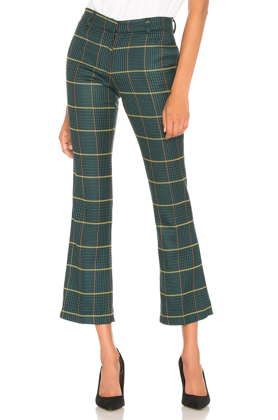 ANINE BING Cindy Pant in Green Plaid