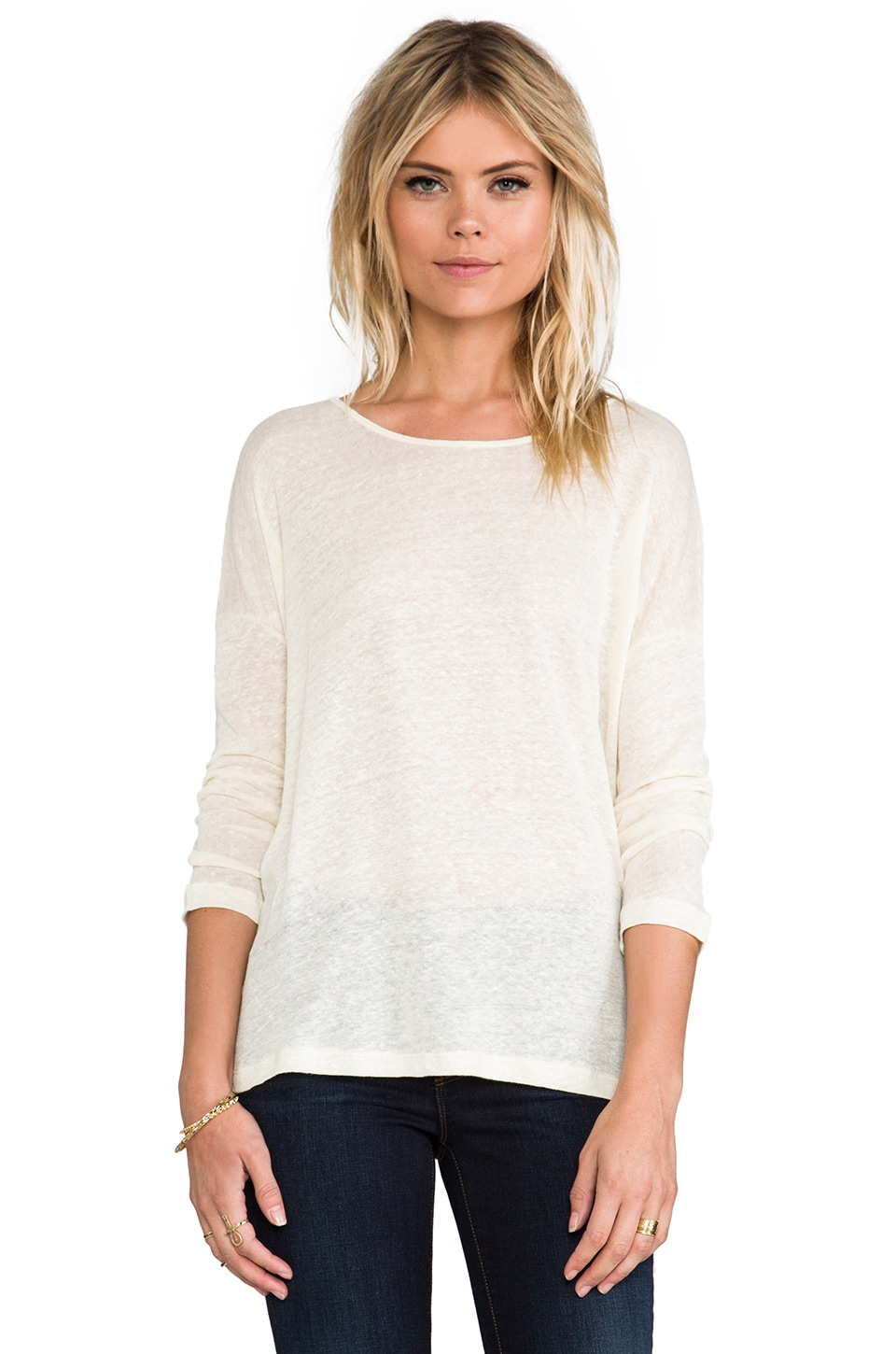 ANINE BING Loose Fit T-Shirt in Cream
