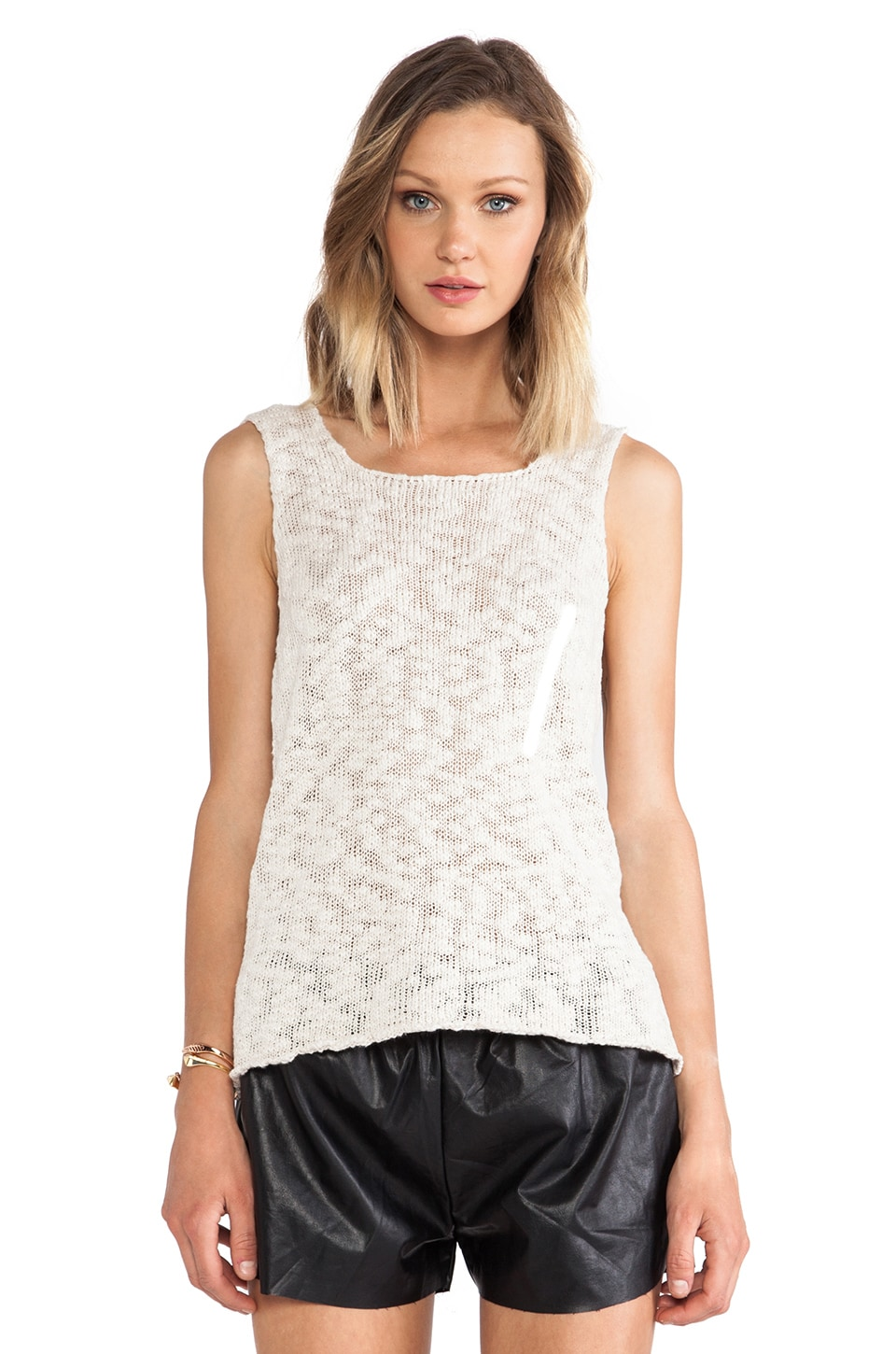ANINE BING Knitted Tank Top in Ivory