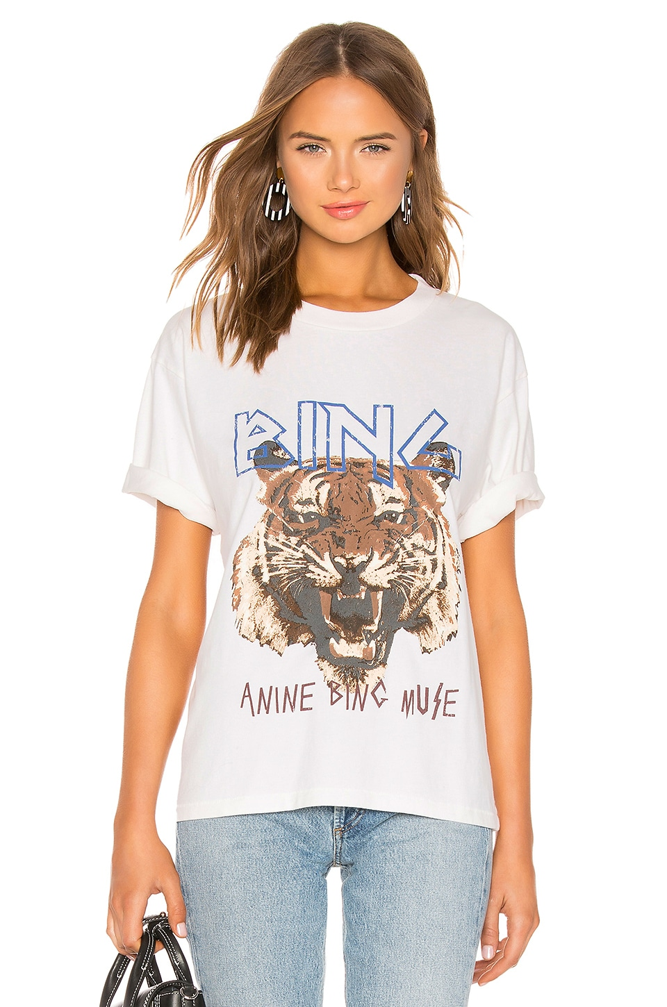 ANINE BING Tiger Tee in White