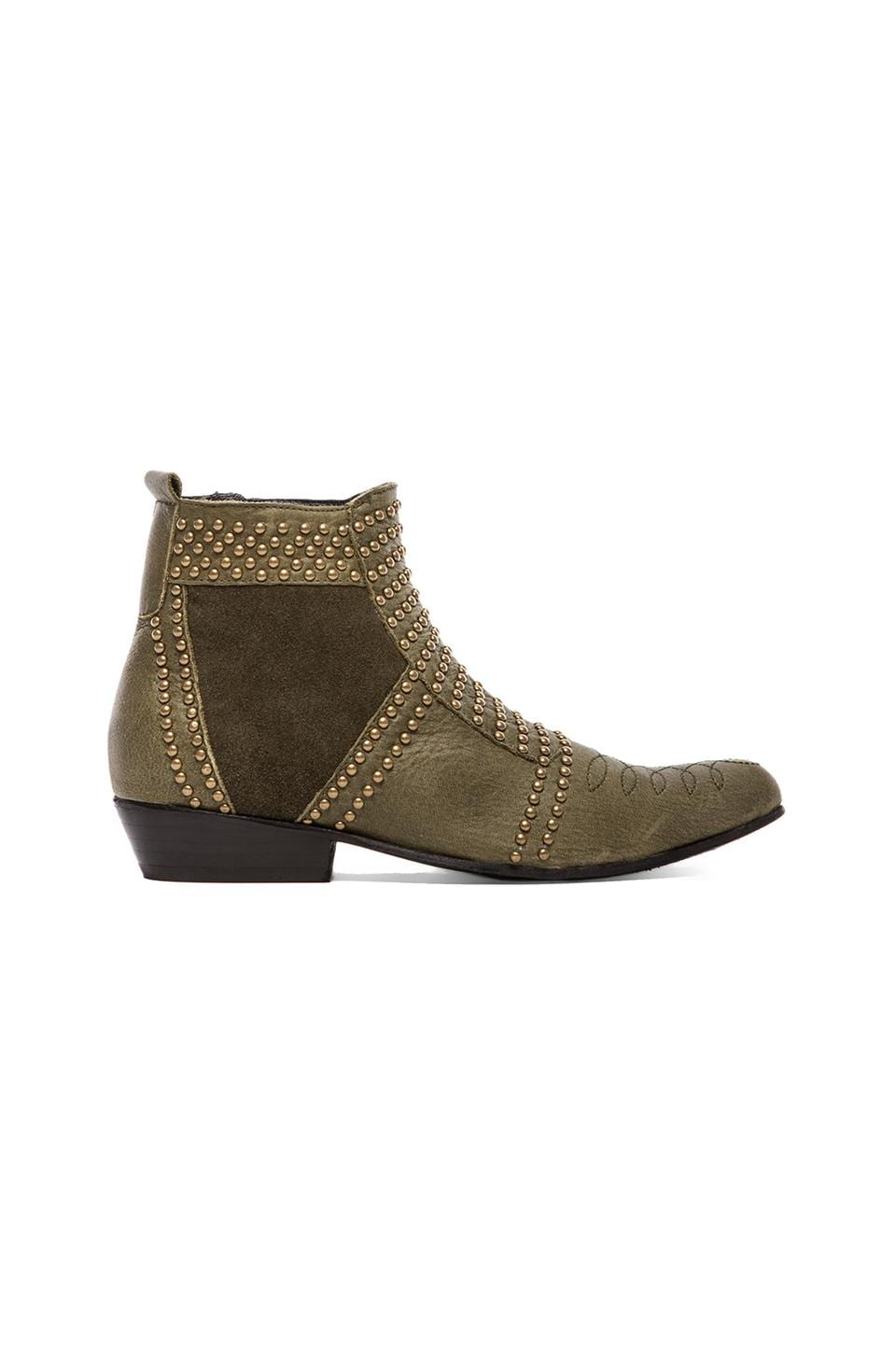 ANINE BING Studded Boots in Olive