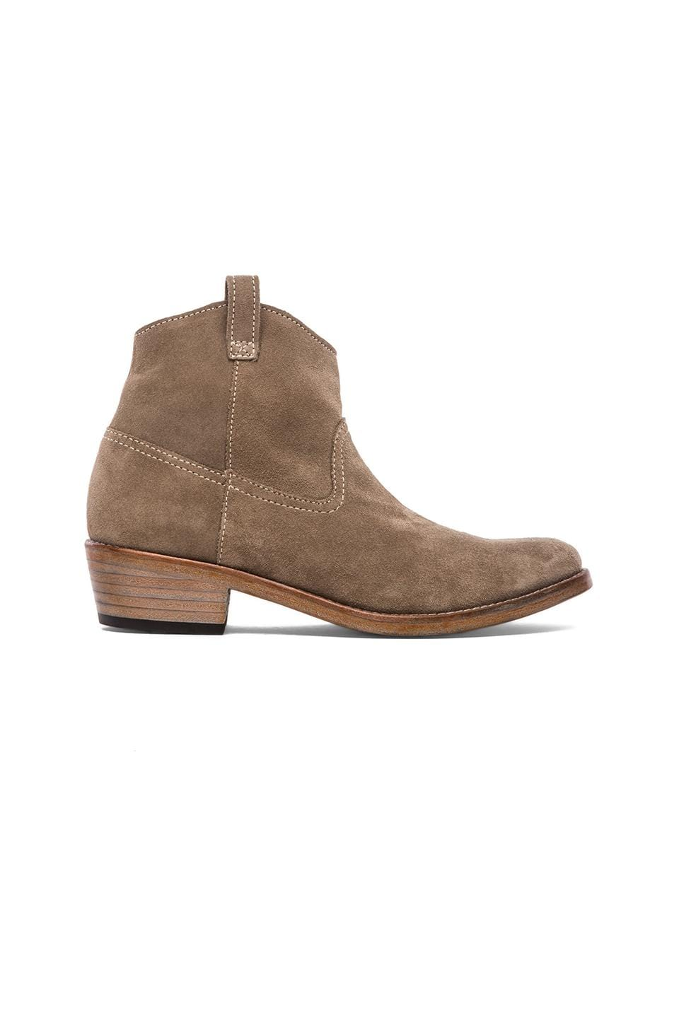 ANINE BING Suede Boot in Sand