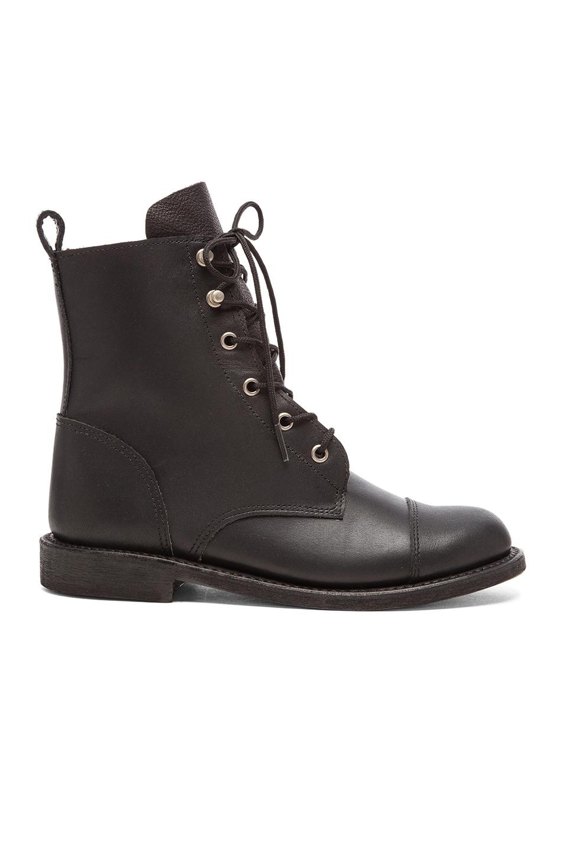 ANINE BING Combat Boots in Black