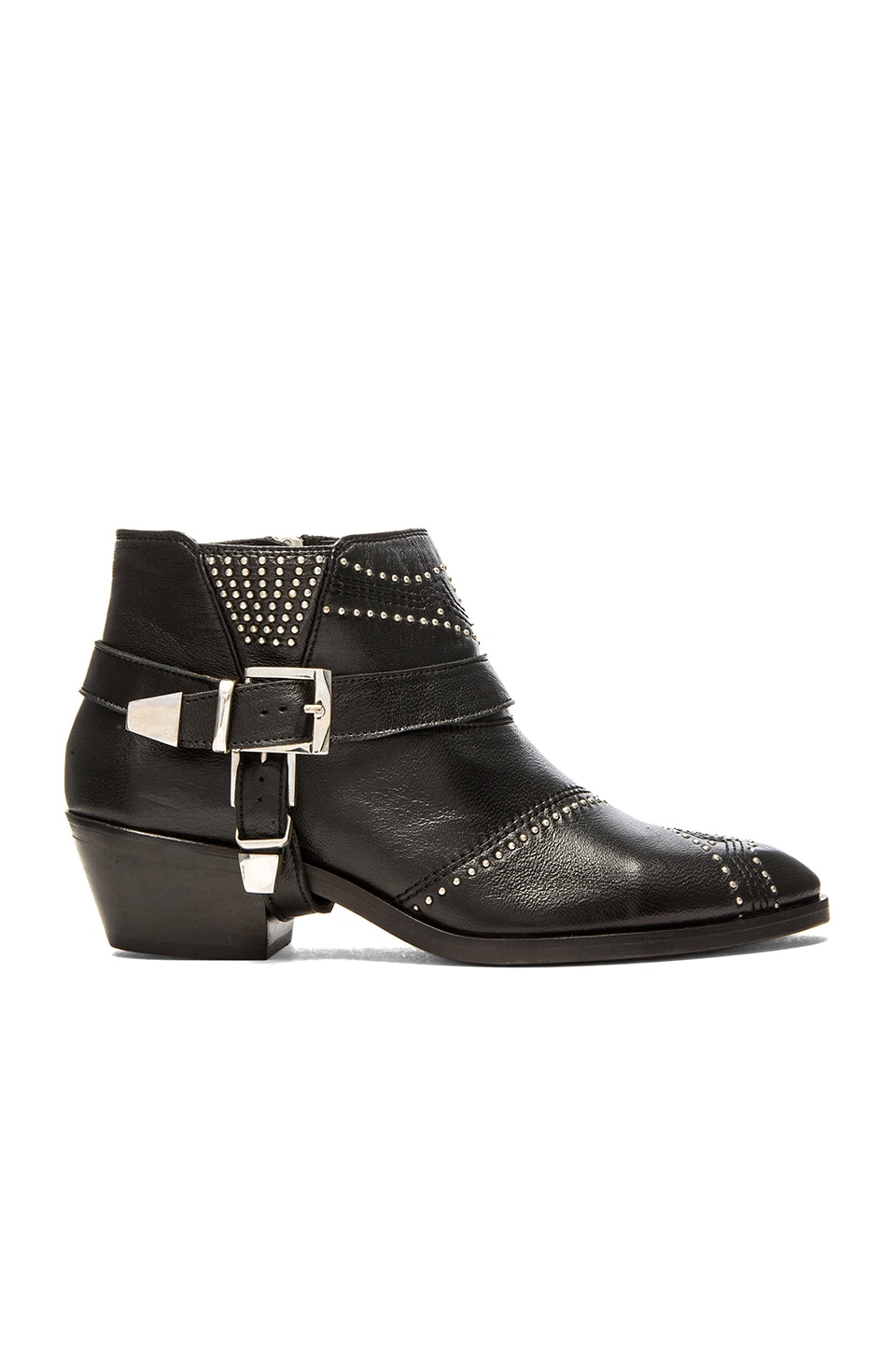Studded Boots with Buckles by Anine Bing
