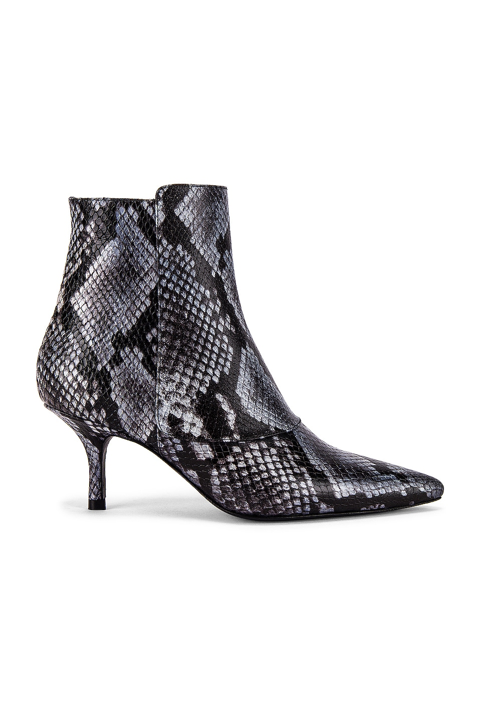 ANINE BING Ava Bootie in Cloudy Blue Python