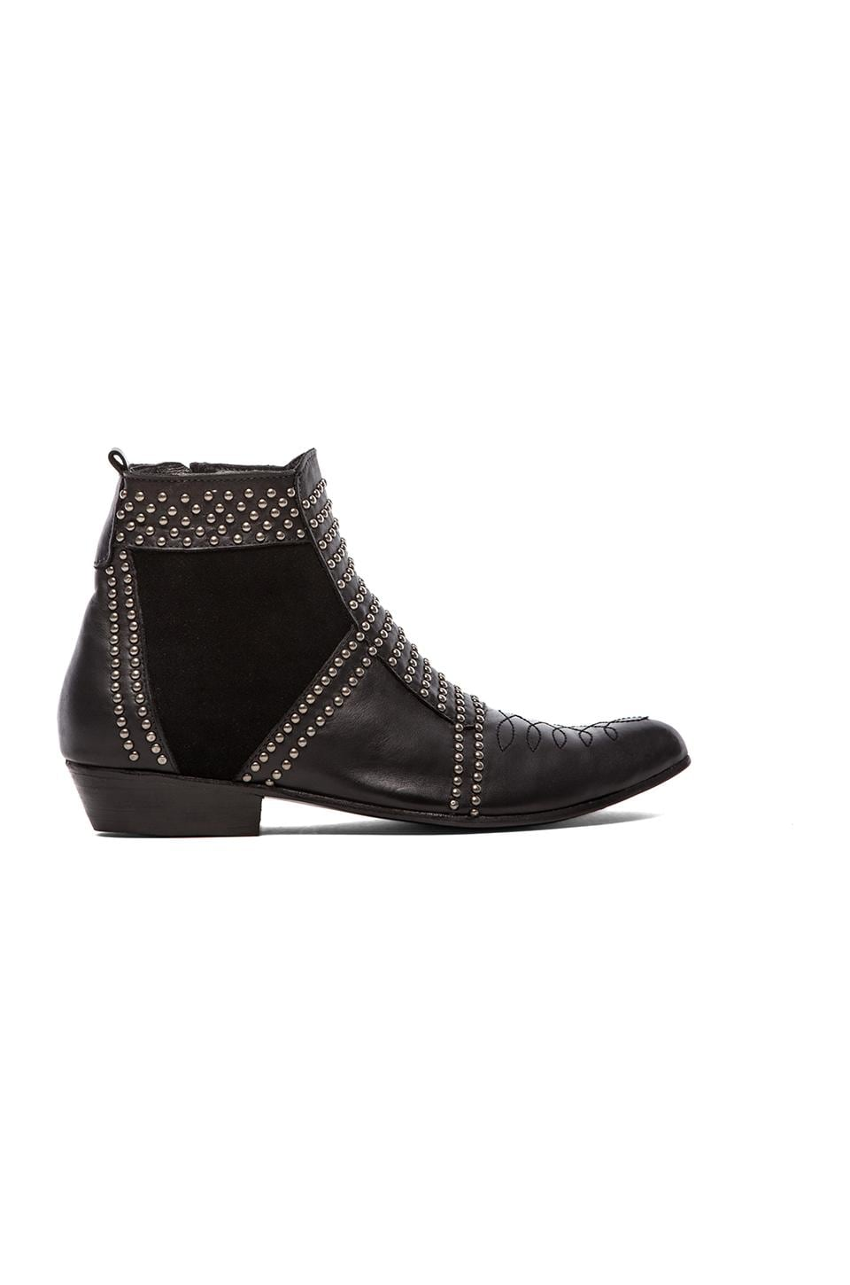 ANINE BING Boots with Studs en Black/Silver