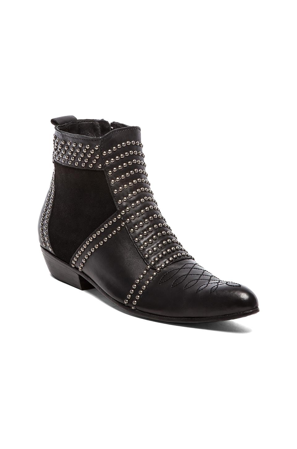 ANINE BING Boots with Studs in Black/Silver