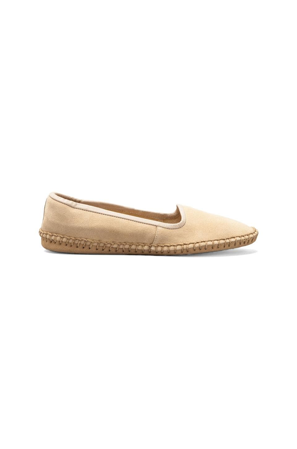 ANINE BING Suede Moccasin in Beige