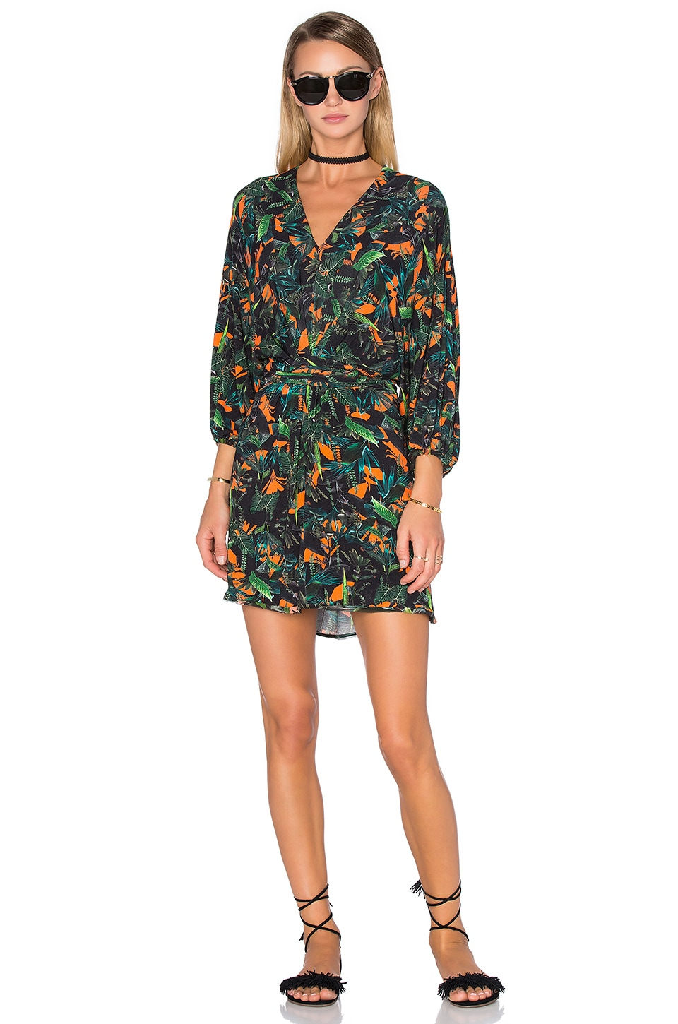 Tropical Long Sleeve Dress by ANIMALE