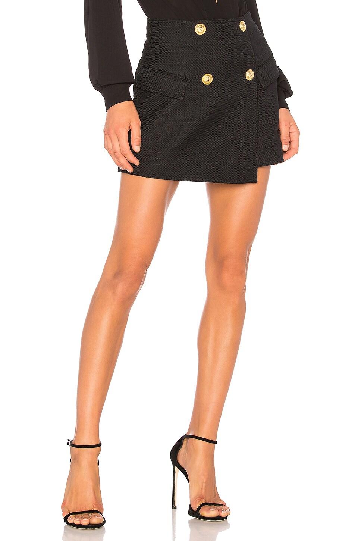 ANIMALE Wrap Skirt in Black