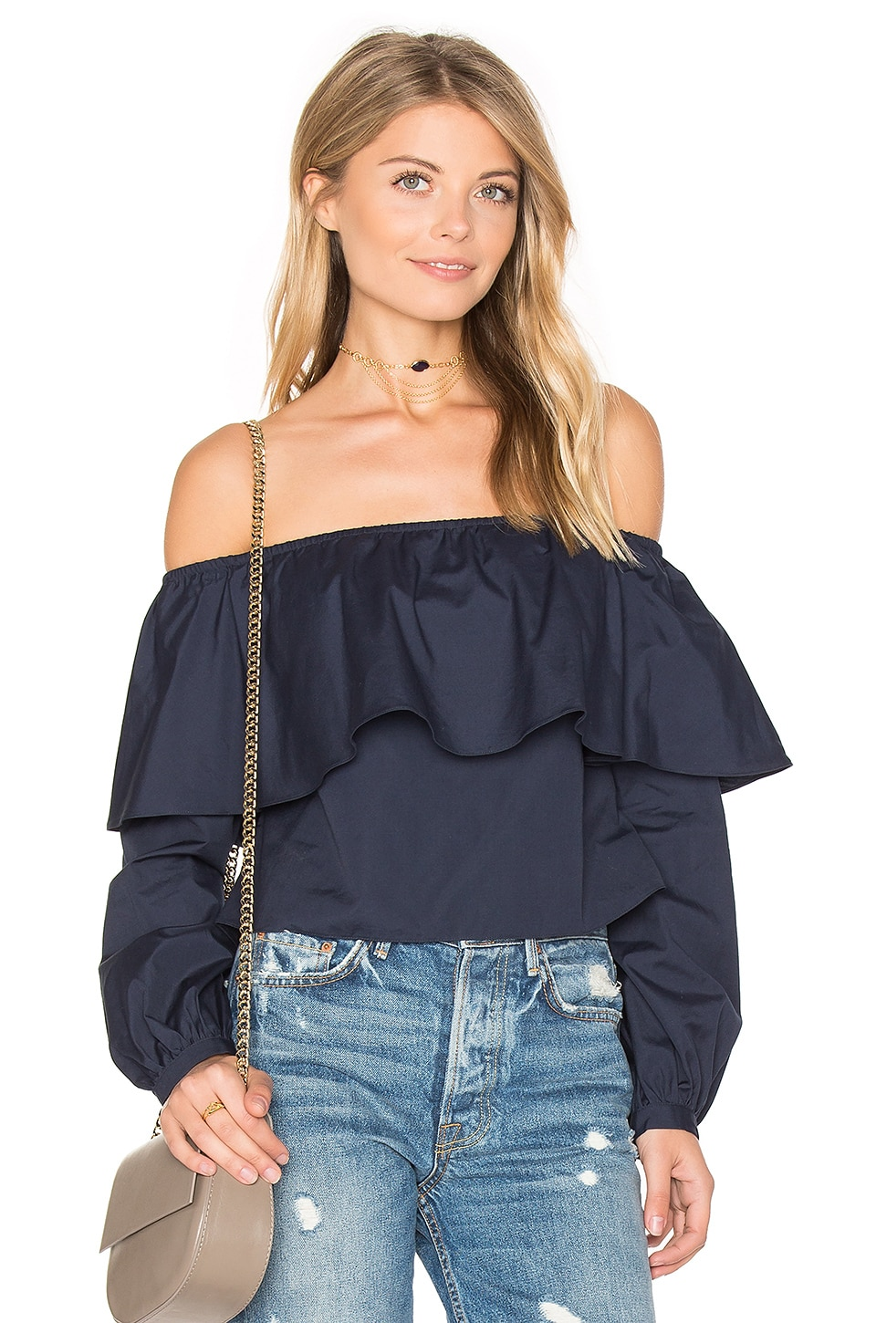 Exposed Shoulder Top by ANIMALE