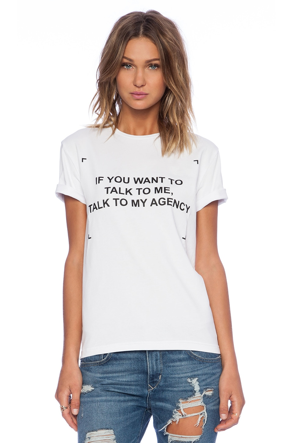 ANNA K Fashion Circus Talk To My Agent T-Shirt in White