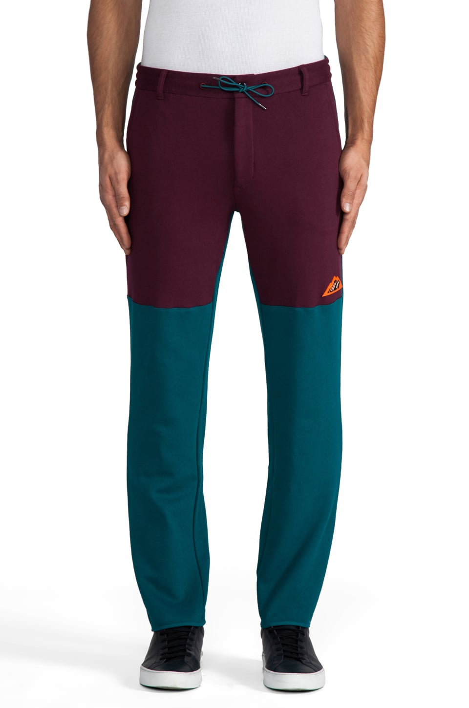 adidas Originals by Opening Ceremony Fleece Track Pant in Big Sur/ Light Maroon