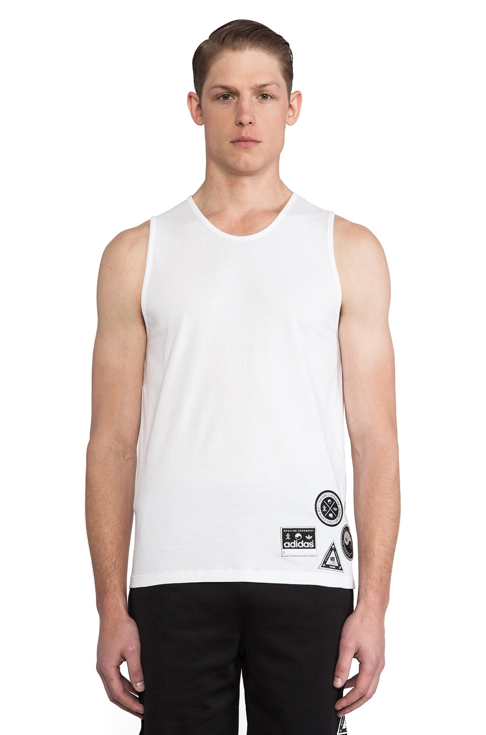 adidas Originals by Opening Ceremony Taekwondo Tank in SLVR White