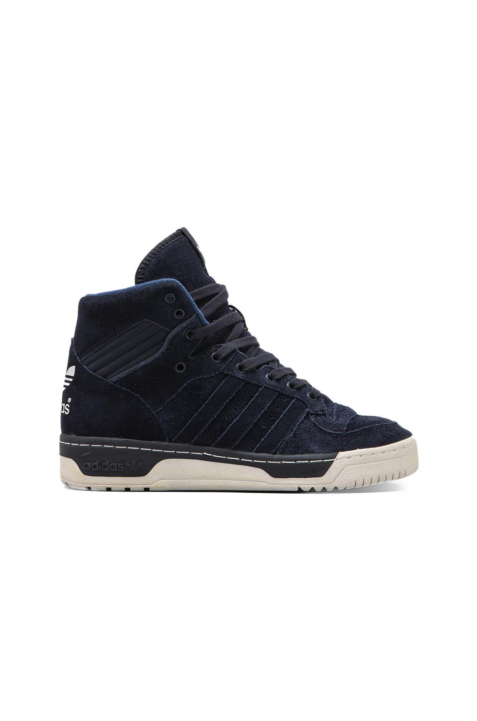 adidas Originals BLUE Rivalry HI in Legend Ink/Legend Ink/White Vapour