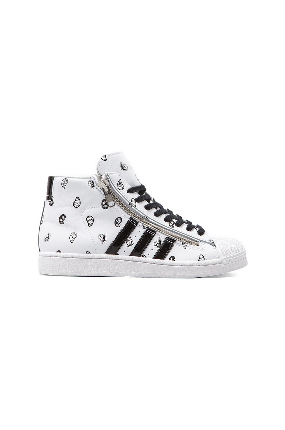 adidas Originals x Opening Ceremony Pro Model Bball in Running White/Black/Running White