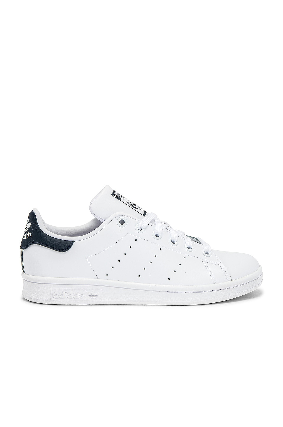 adidas Originals Stan Smith Sneaker in White & Dark Blue