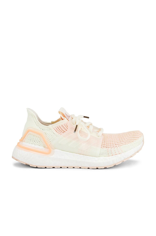 adidas Originals Ultraboost Sneaker in Off White, Glow Pink & Glow Orange