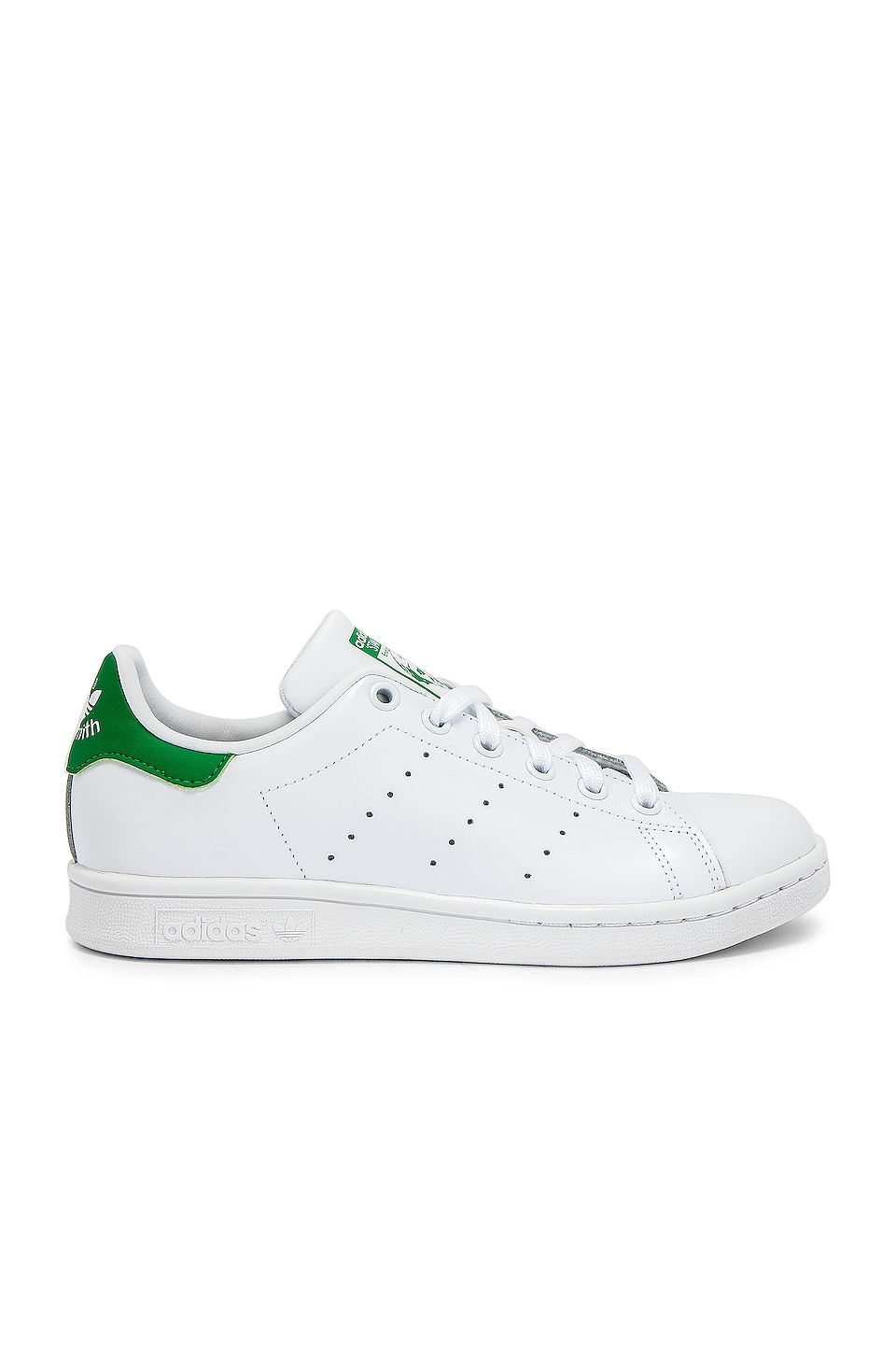 adidas Originals Stan Smith Sneaker in White & Green