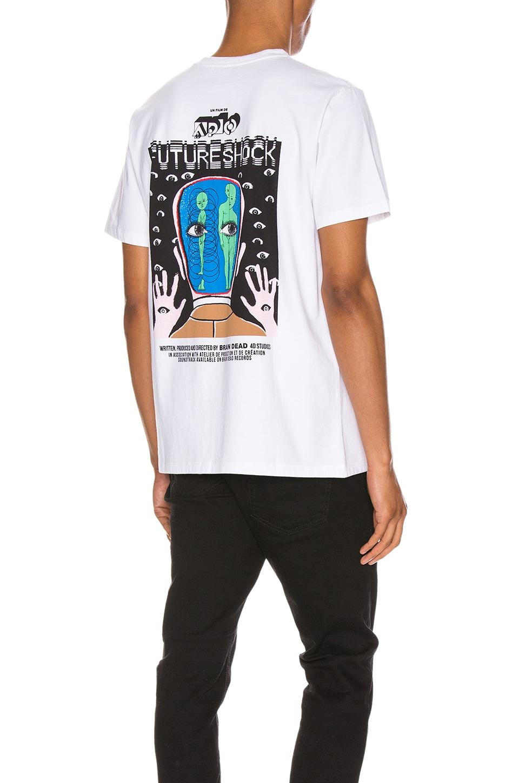 A.P.C. x Brain Dead Dusty T-Shirt en Blanc