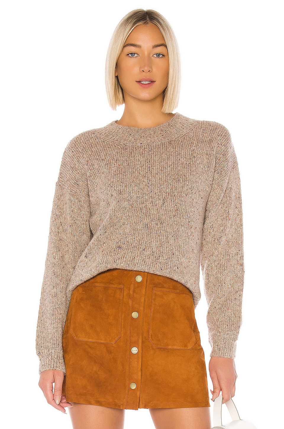 A.P.C. Kate Pullover in Beige Clair Chine