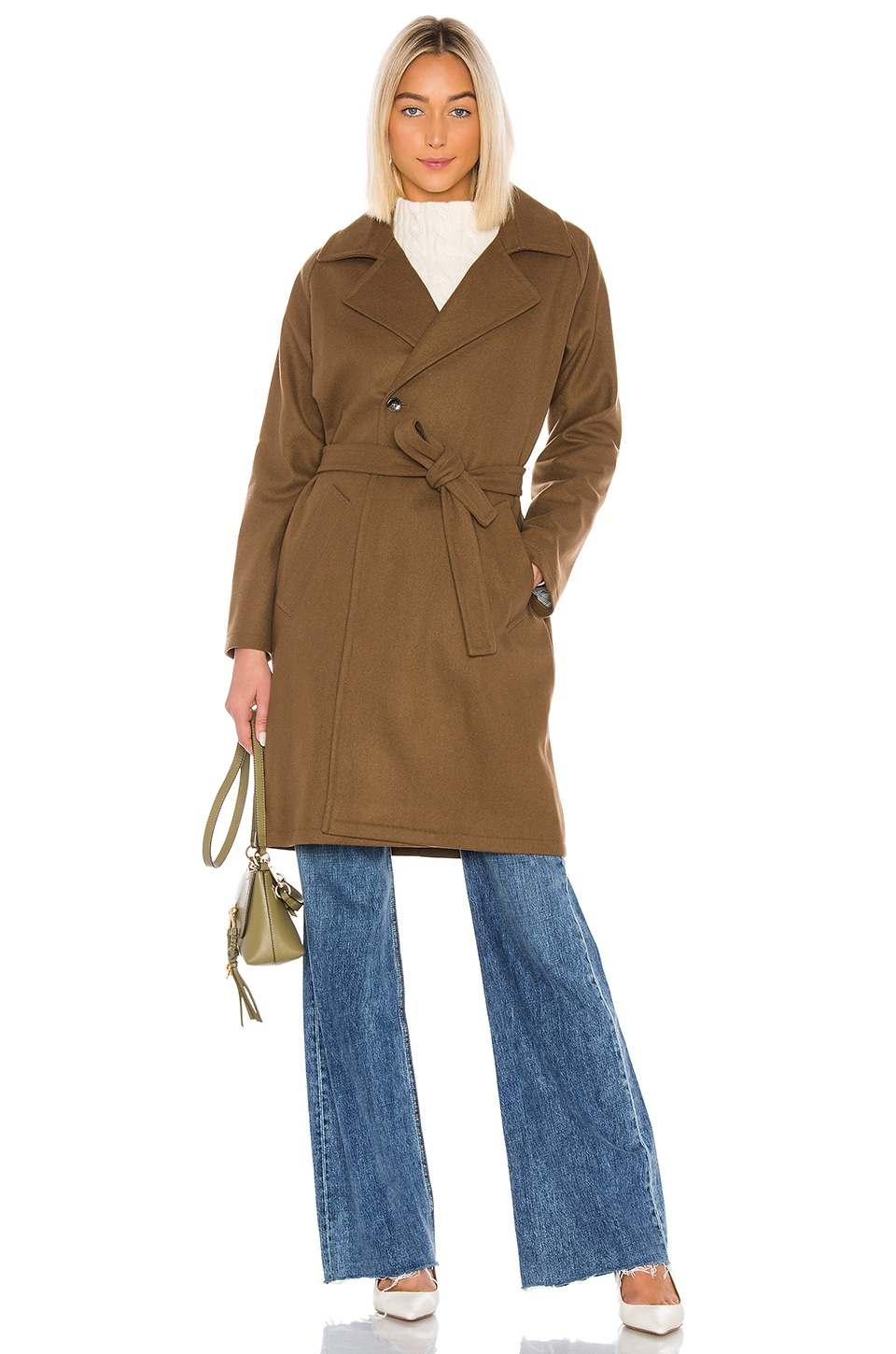 A.P.C. Manteau Bakerstreet Trench in Marron Glace