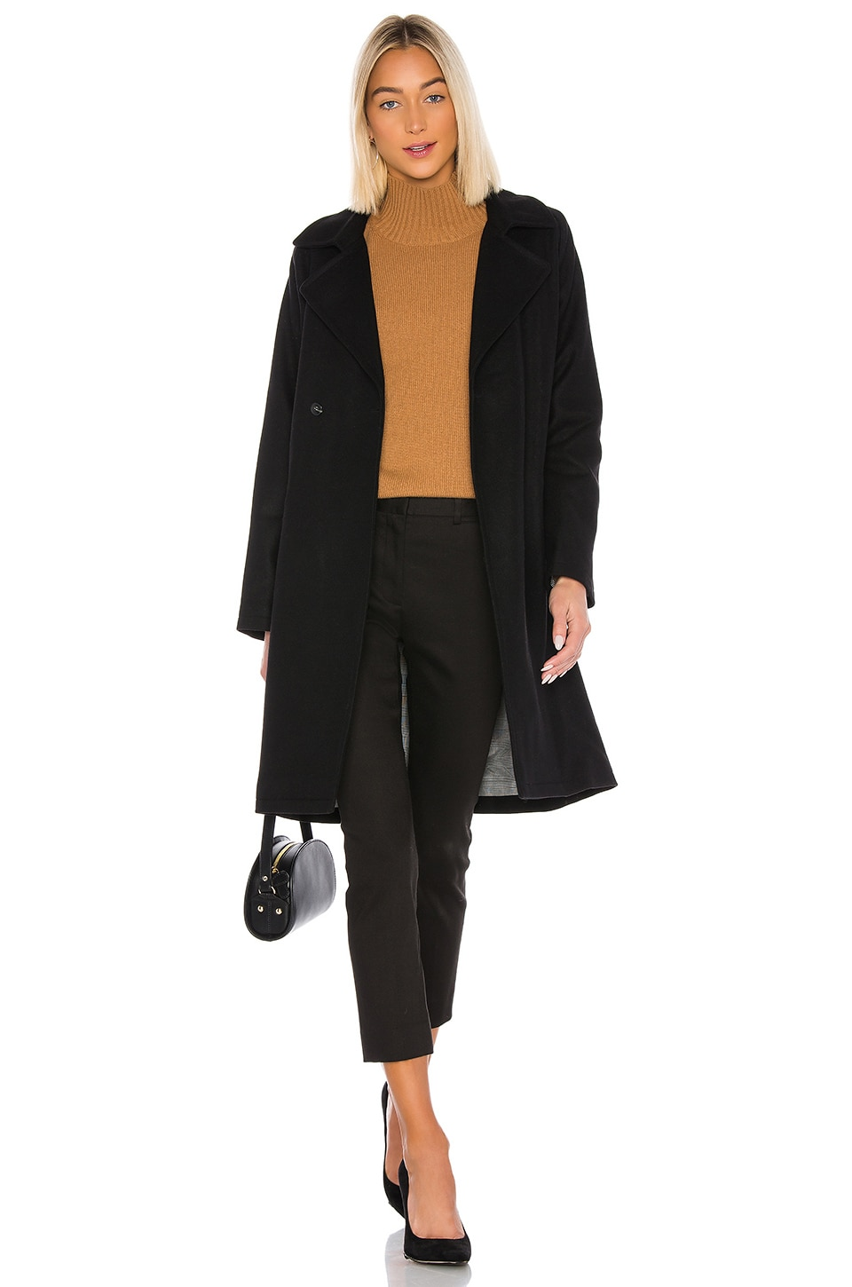 A.P.C. Manteau Bakerstreet Trench in Noir
