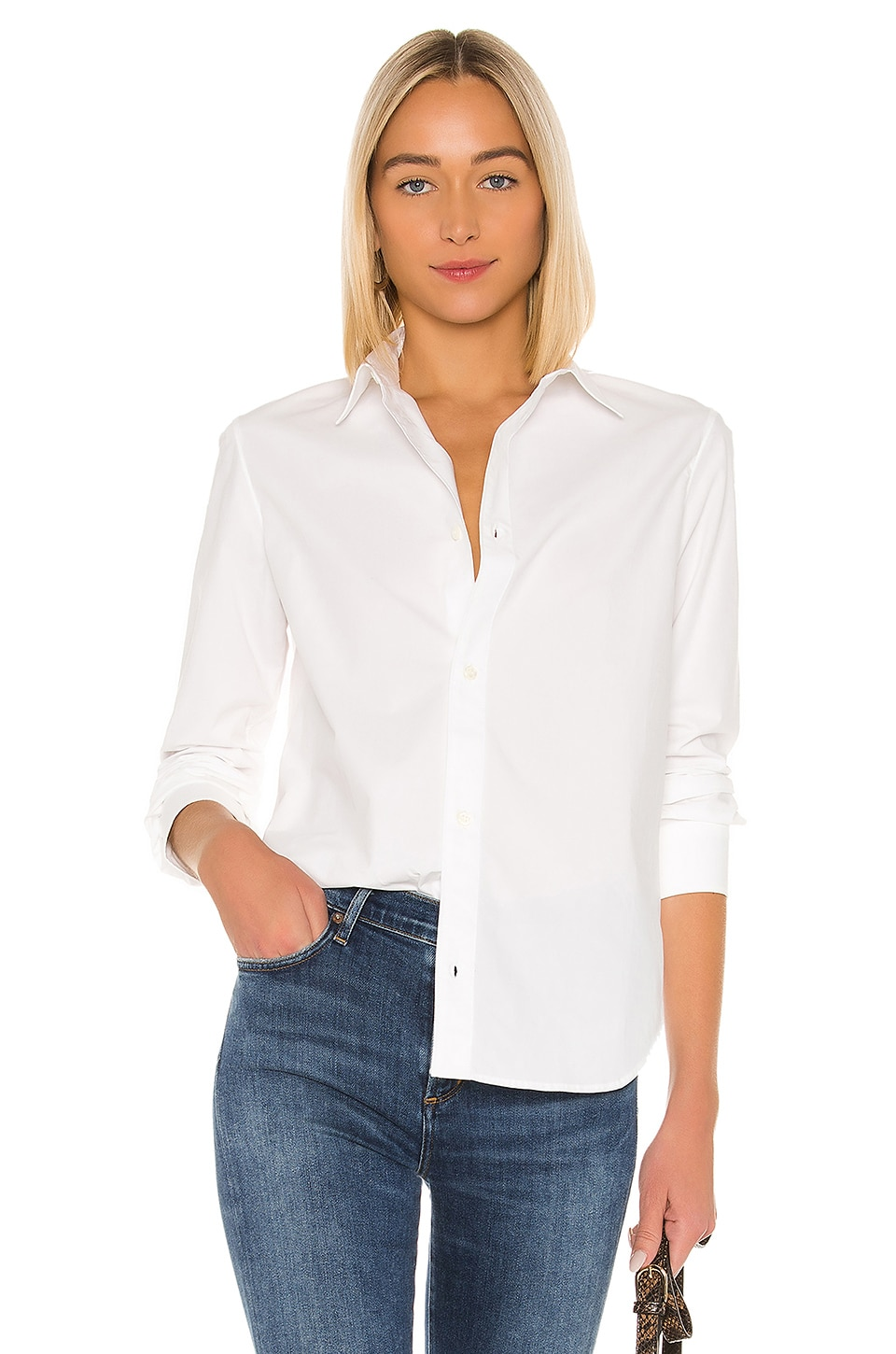 A.P.C. Gina Chemise Button Down in Blanc